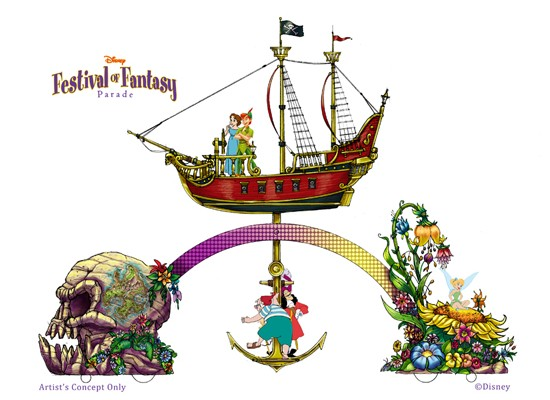 First Look: Little Mermaid, Peter Pan, Brave 'Festival of Fantasy Parade' Floats