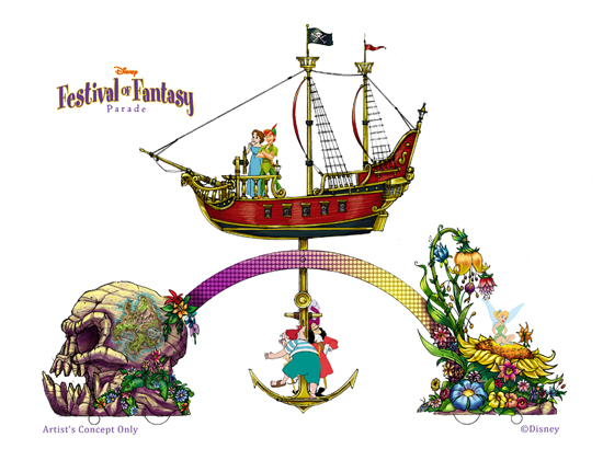Festival of Fantasy Parade - Peter Pan Concept Art