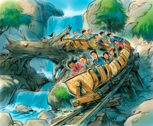 Seven Dwarfs Mine Train Concept Art