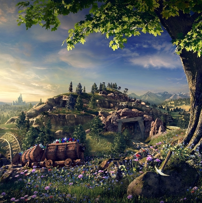 Seven Dwarfs Mine Train Rendering