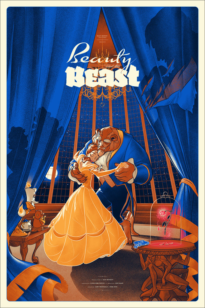Beauty and the Beast Mondo Poster - English