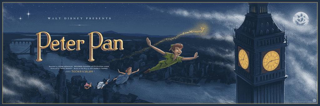 Peter Pan Mondo Poster