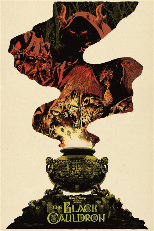 The Black Cauldron Mondo Poster