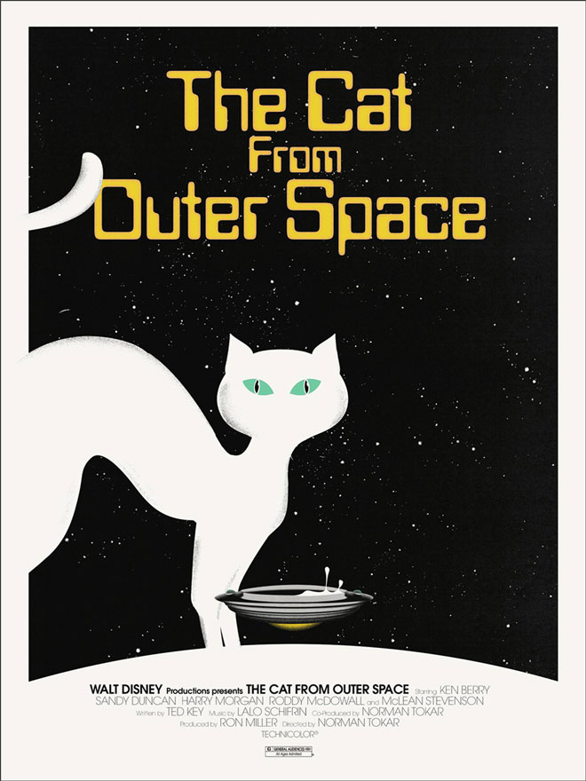 The Cat From Outer Space Mondo Poster