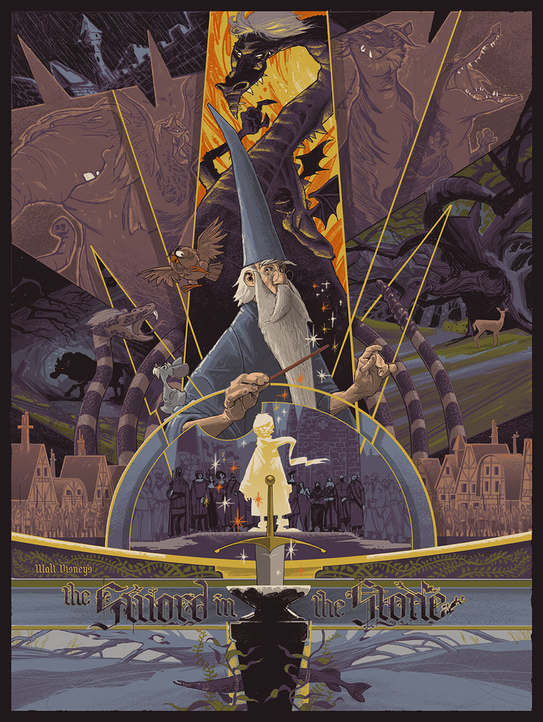 The Sword in the Stone Mondo Poster