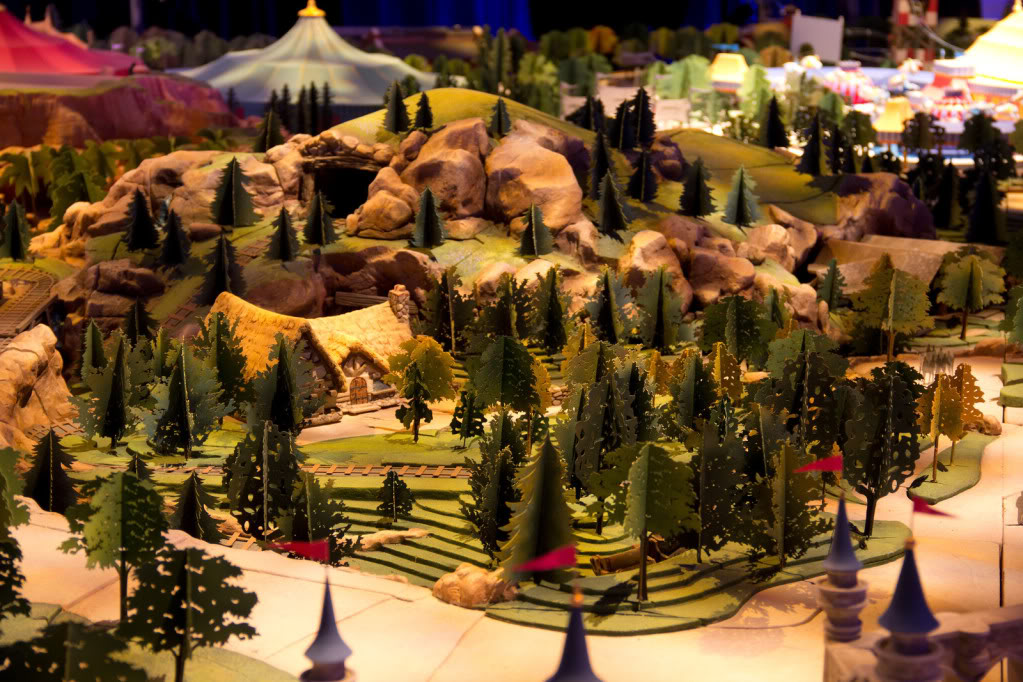 Seven Dwarfs Mine Train Concept Model