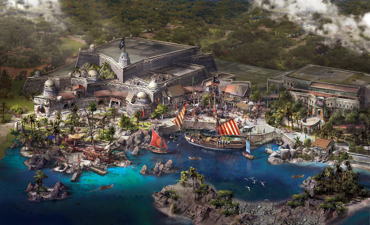 Shanghai Disneyland - Treasure Cove Concept Art 1