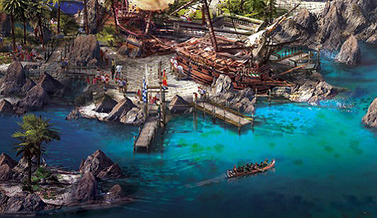 Shanghai Disneyland - Treasure Cove Concept Art 4