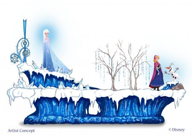 Frozen Disneyland Float