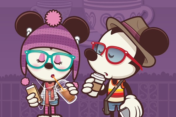 New Hipster Mickey Artwork Inspired By 'Alice In Wonderland' Attraction