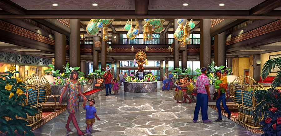 Polynesian Village Resort Lobby Concept Art