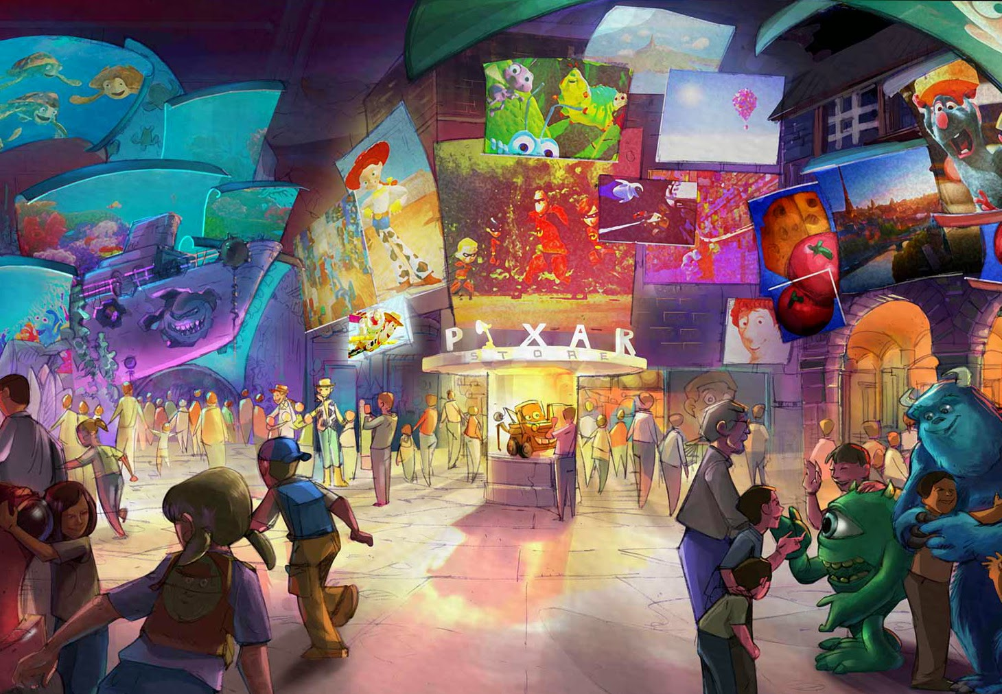 Dubai Disneyland - Pixar Store